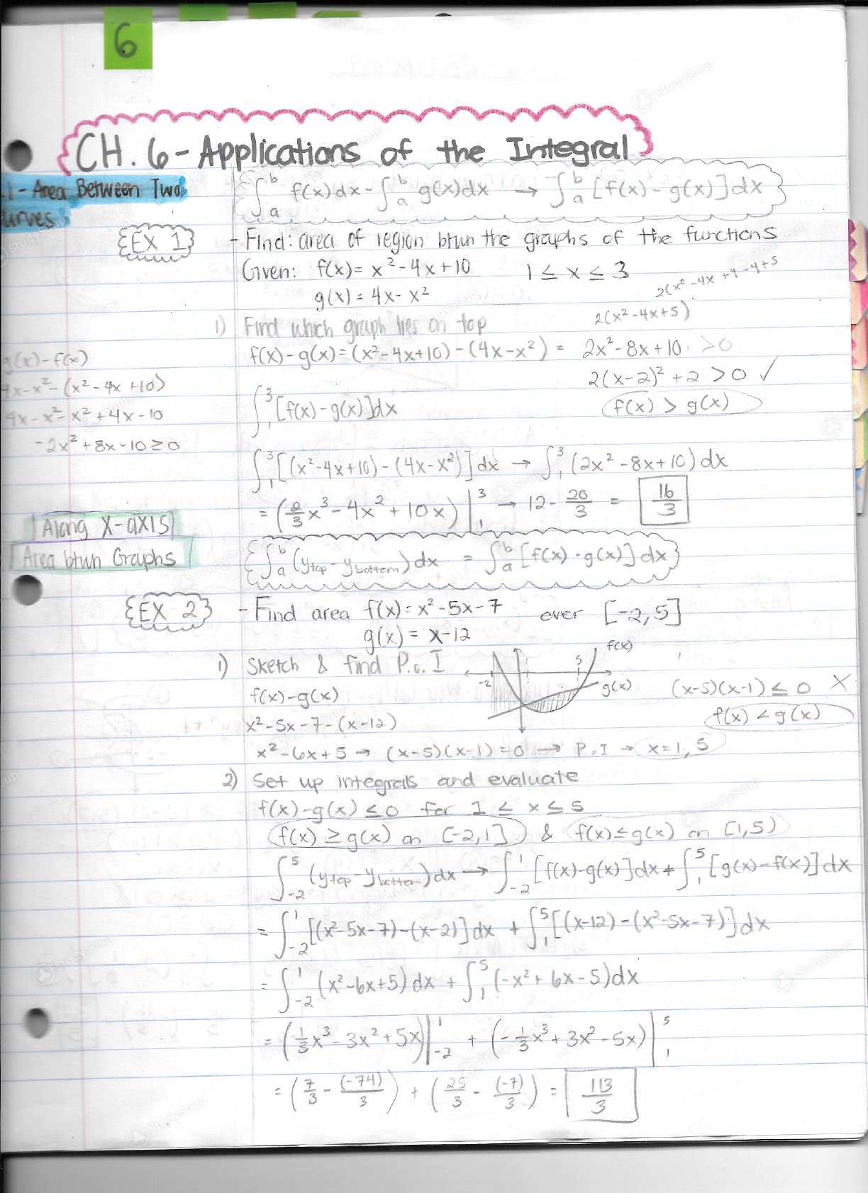 UCSC - MATH 1901 - Math 19b (Chapter 6 - 6 1 & 6 2) Notes