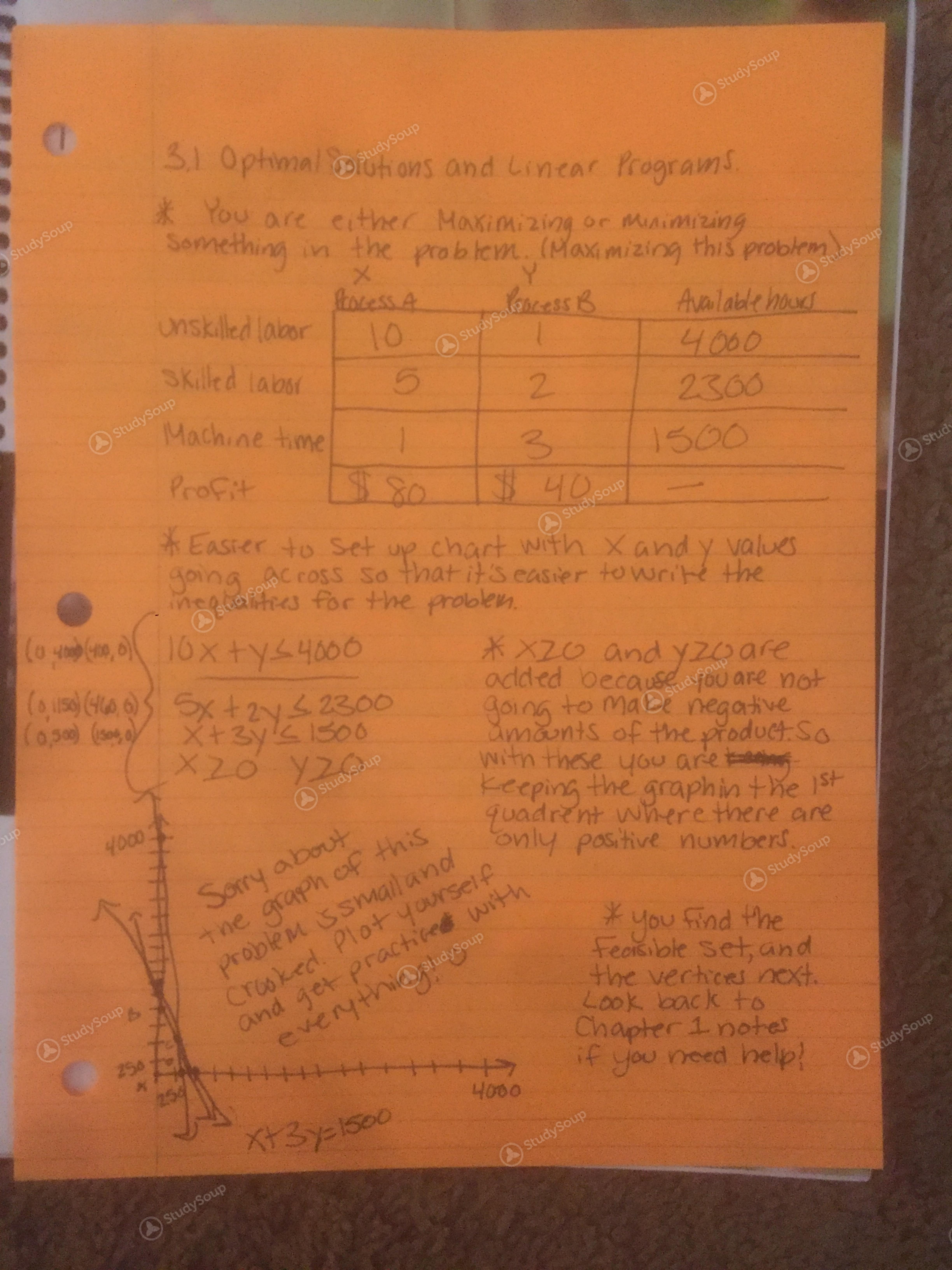 Towson - MATH 111 - Finite Math: Chapter 3 Notes - Class