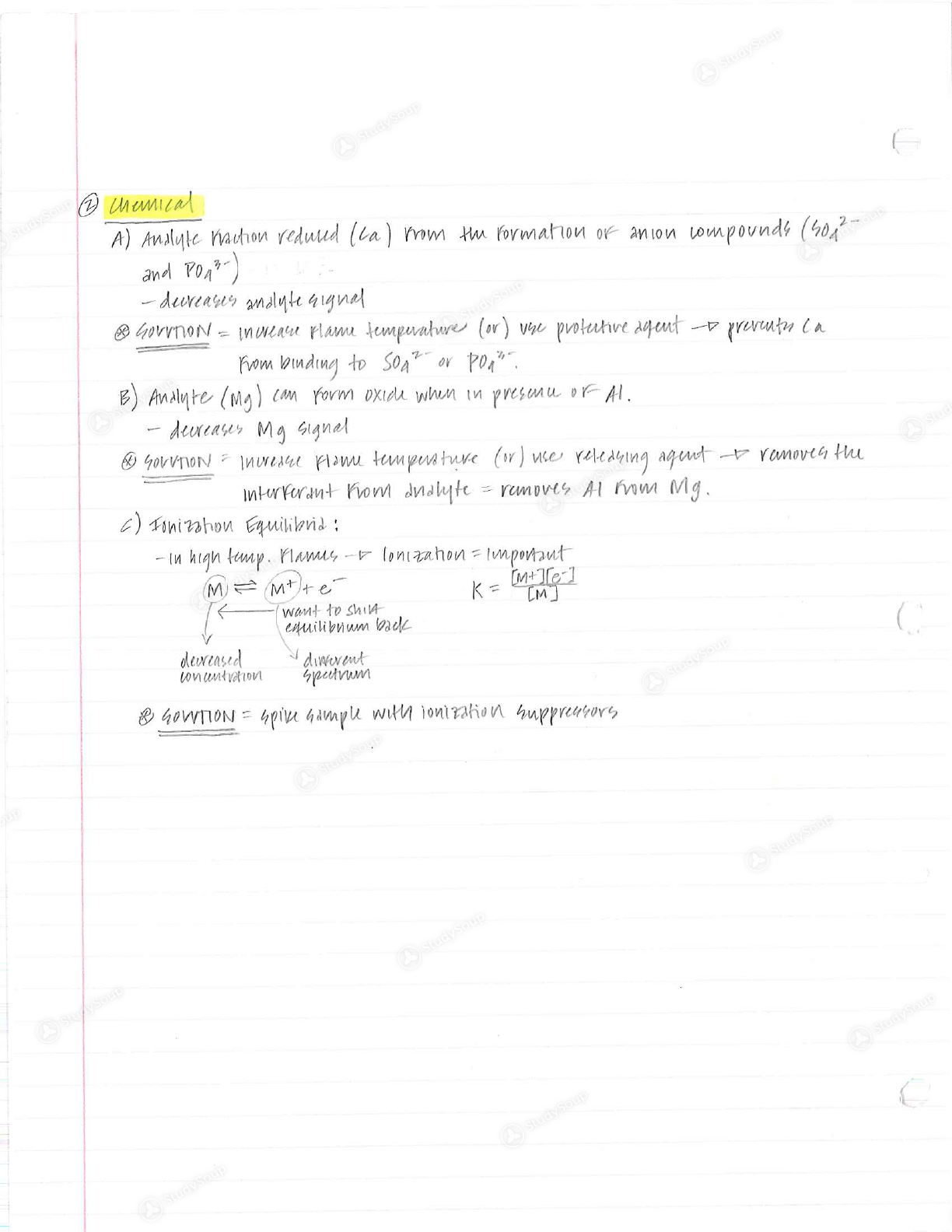 BSU - CHEM 345 - Class Notes - Week 3