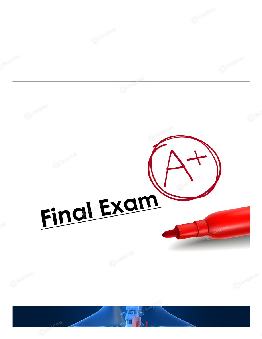 C of C - HTMT 202 - Anatomy and Physiology Final Exam - Study Guide ...
