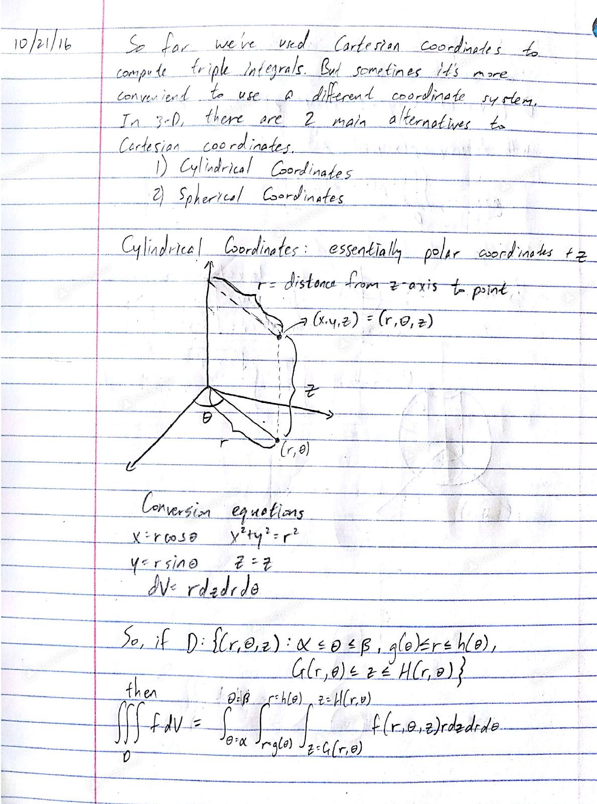 UIC - MATH 210 - Class Notes - Math 210, Week 9 10/21 Notes   StudySoup