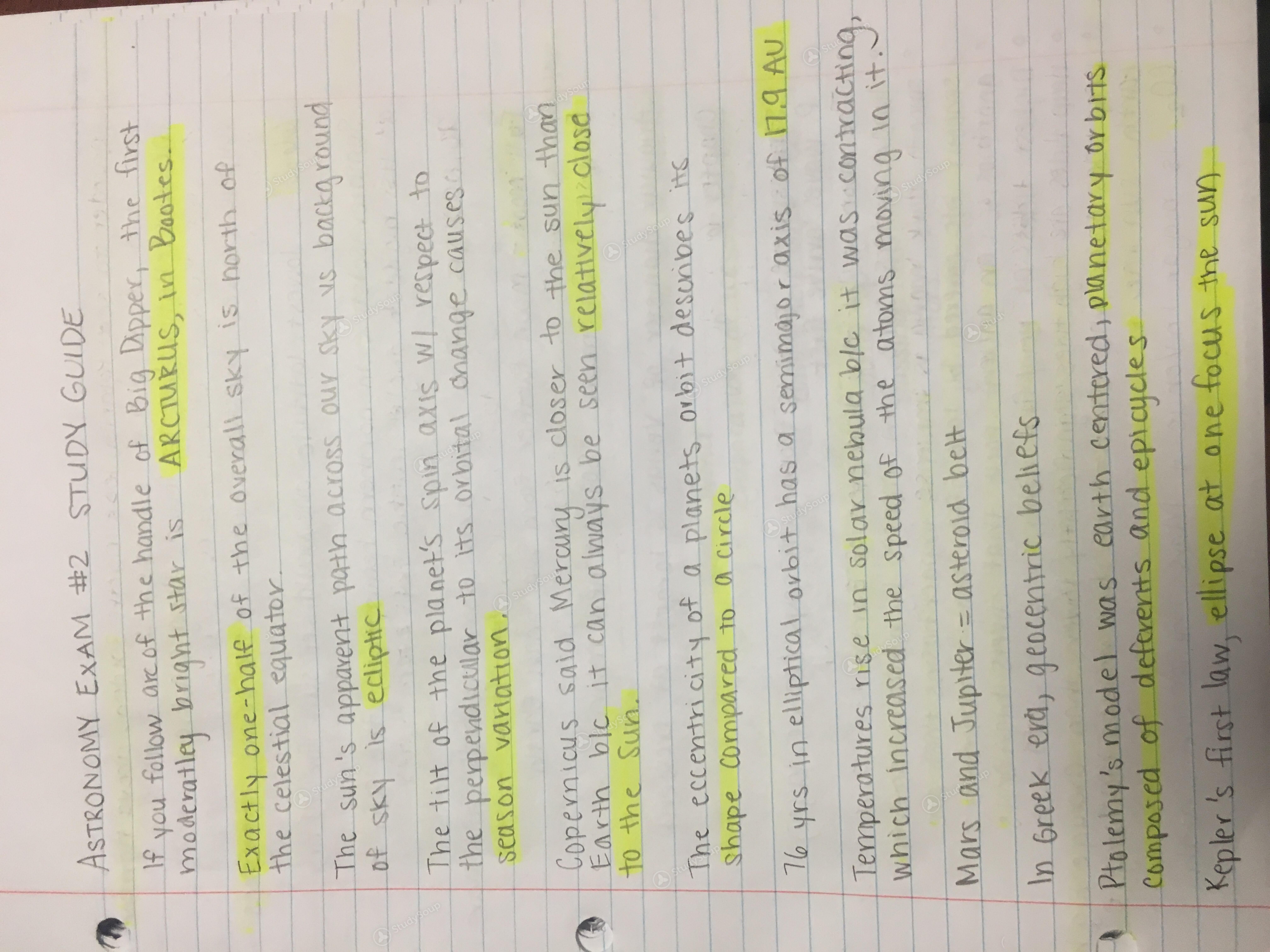 FSU - BSC 1002 - Exam 2 chapter 1-9 - Study Guide | StudySoup