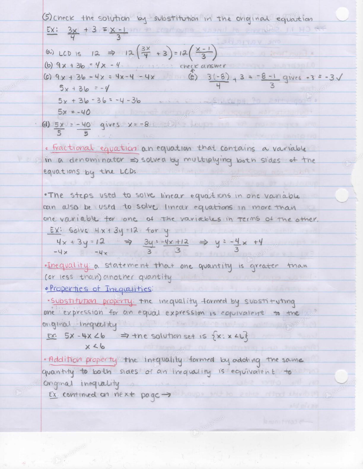 TTU - Math 1330 - Class Notes - Week 1 | StudySoup