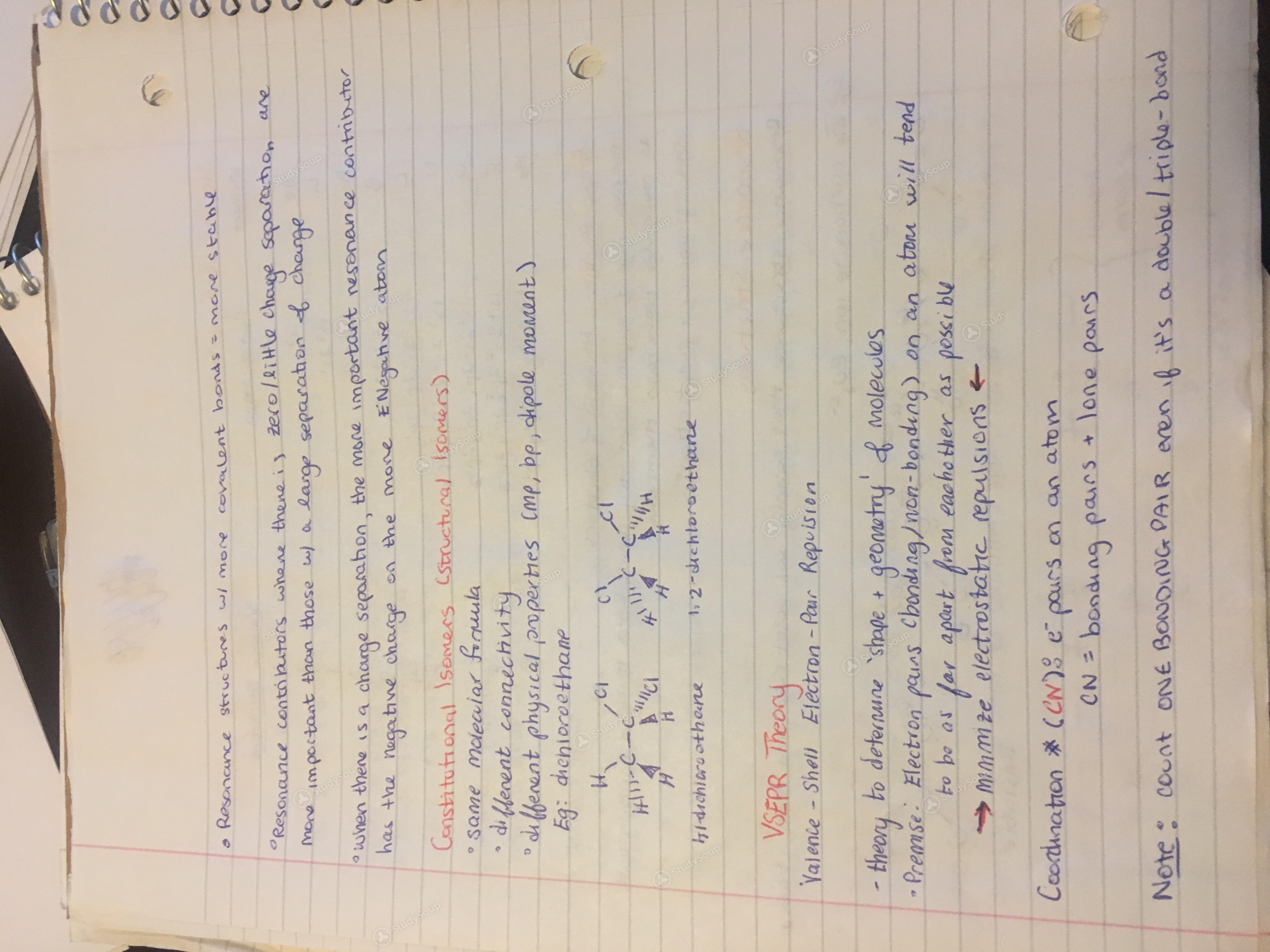 Concordia University - CHEM 221 - Class Notes - Week 3   StudySoup