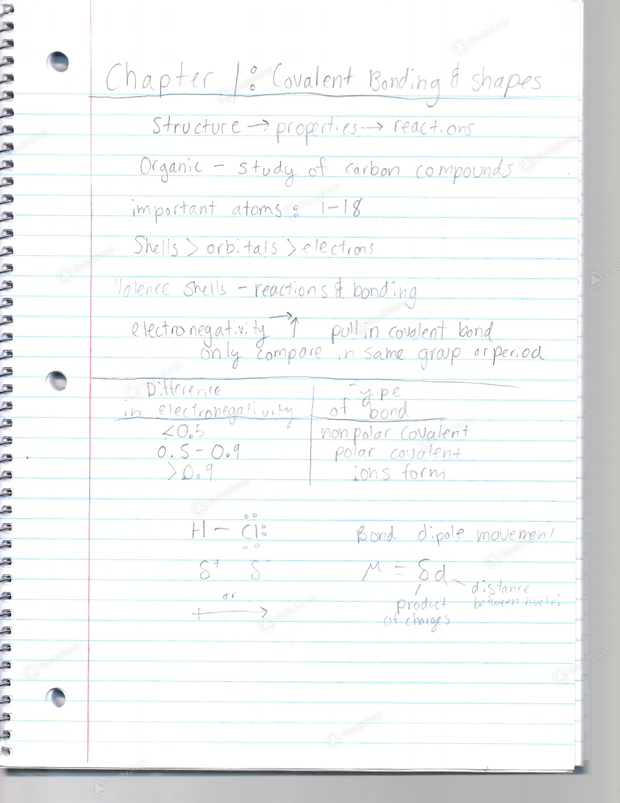 UCLA - Chemistry and Biochemistry 30 - Class Notes - Week 1