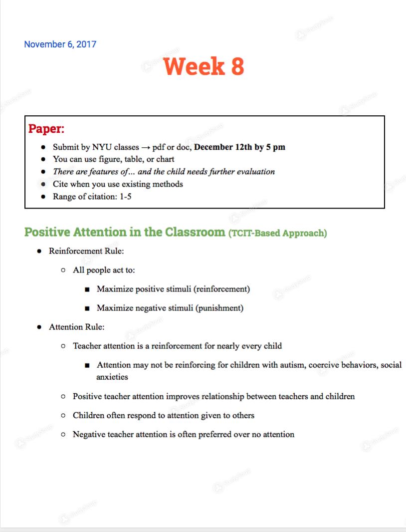 NYU - CAMS-UA 001 - Class Notes - Week 8 | StudySoup