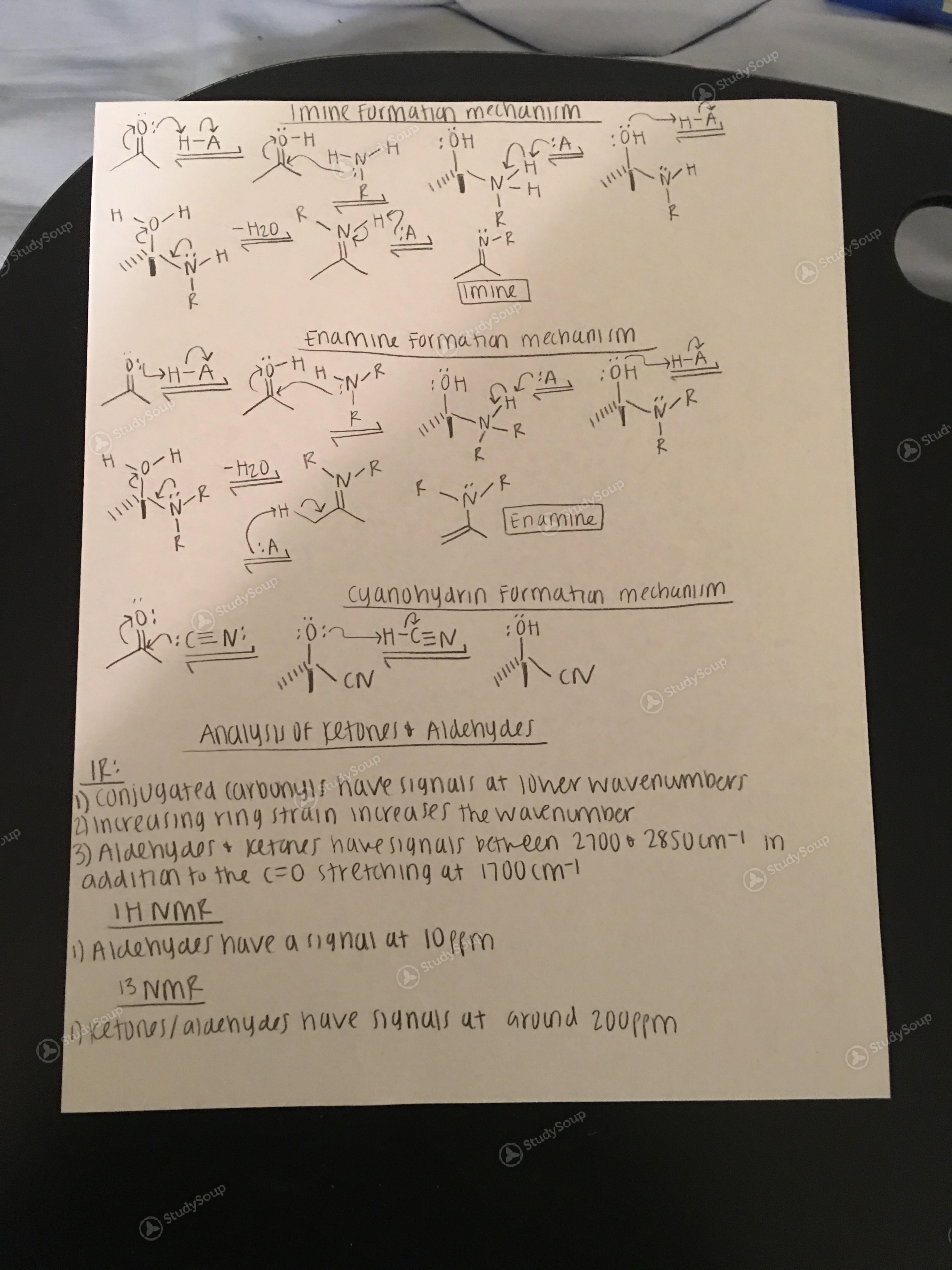 UTA - CHEM 2322 - Organic Chemistry Exam 2 Notes - Study Guide