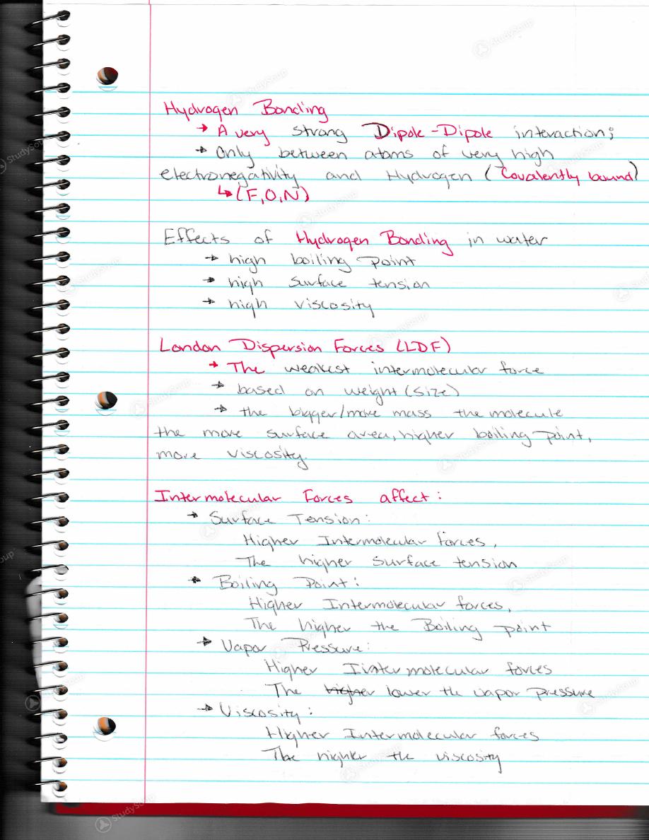 Chem 101 class notes week 2 | Homework Academic Service