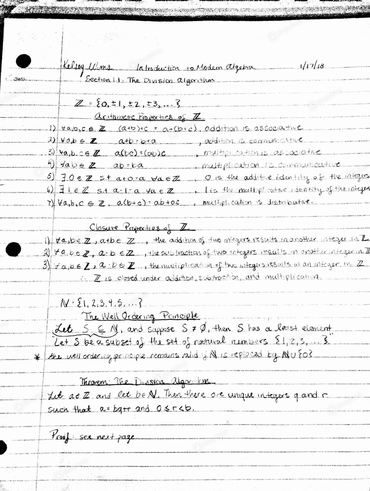 Temple - MATH 3096001 - Class Notes - Week 1 | StudySoup