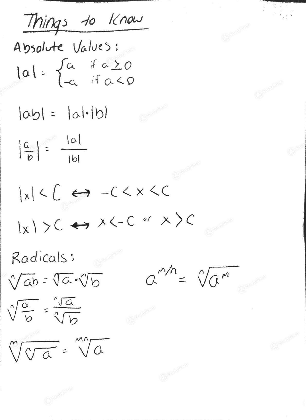 rutgers precalc college math 01640115 study guide midterm