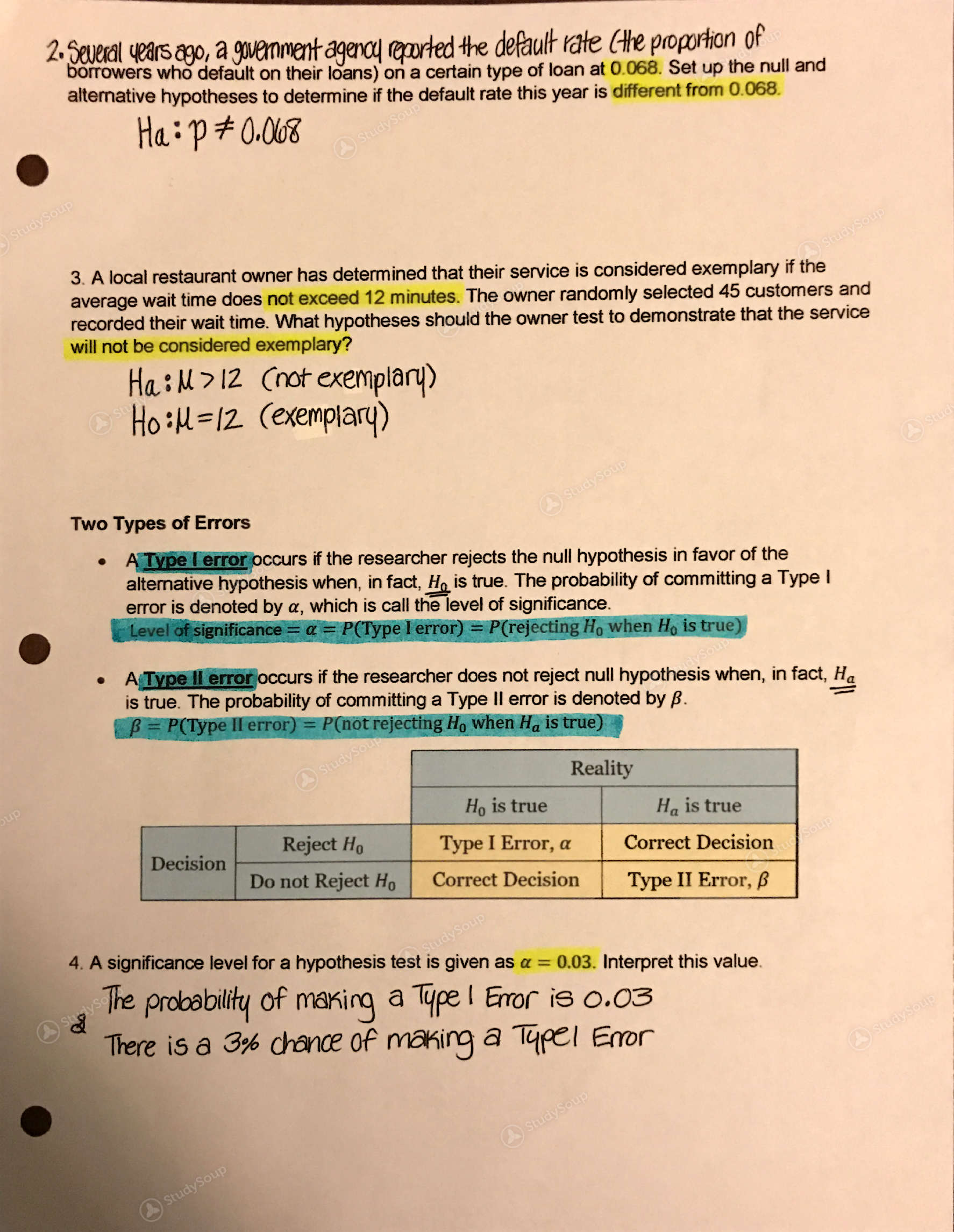 OleMiss - MATH 115 (Elementary Statistics) - Class Notes