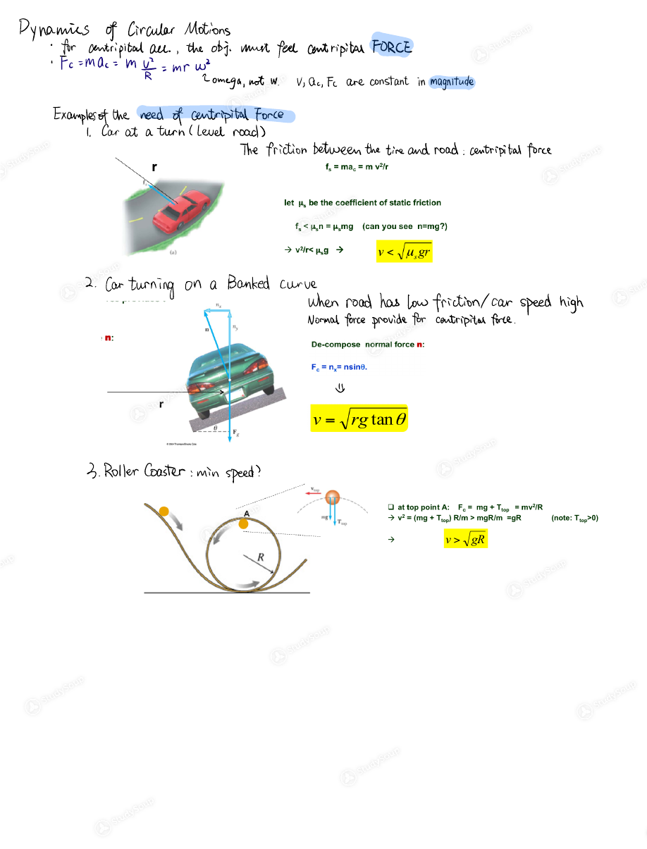 UW - PHYSICS 201 - Class Notes - Week 5 | StudySoup
