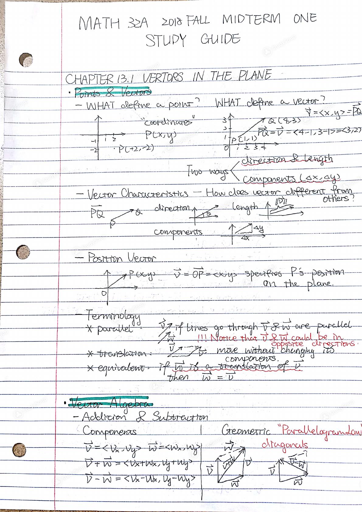 ucla math 32a homework
