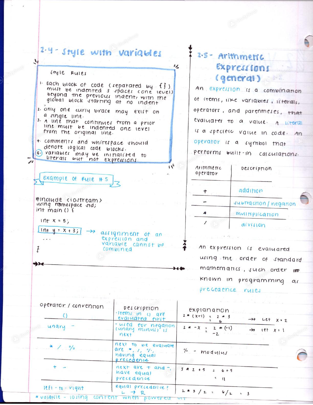 UCR - CS 010 - Class Notes - Week 2 | StudySoup