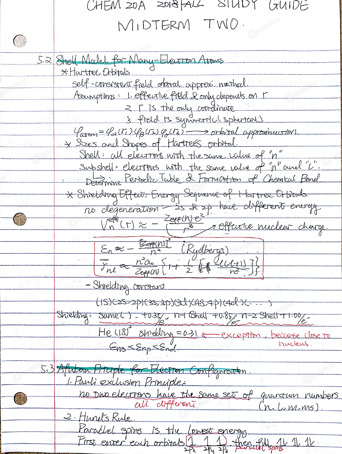 UCLA - CHEM 20 - CHEM20A Study Guides Midterm2 Chapter4-6