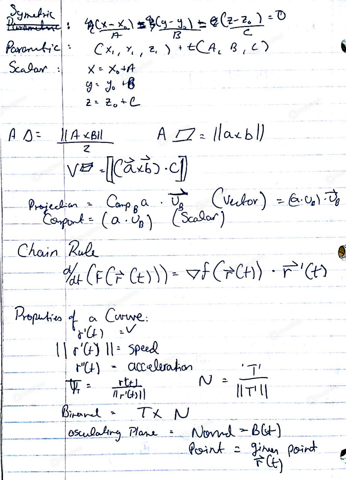 UH - MATH 2433 - Cumulative formula sheet- notes - Class