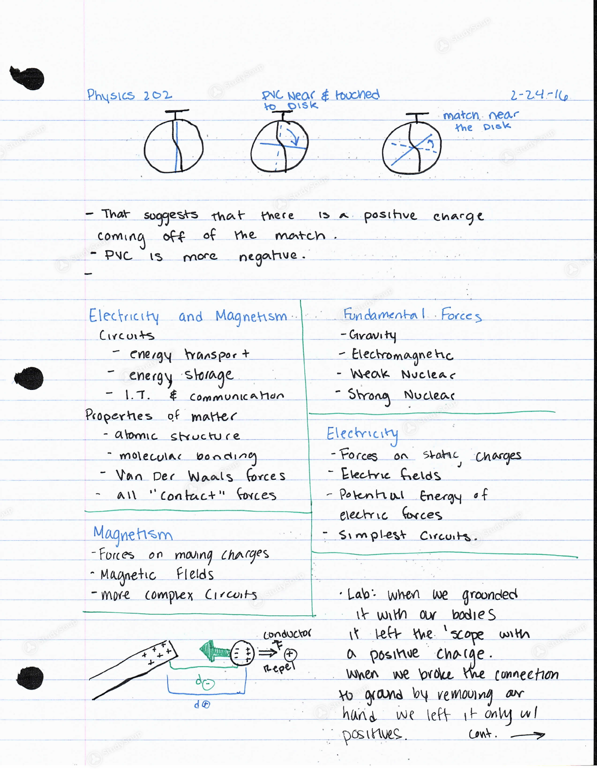 WSU Vancouver - PHYS 202 - Class Notes - Week 6 | StudySoup