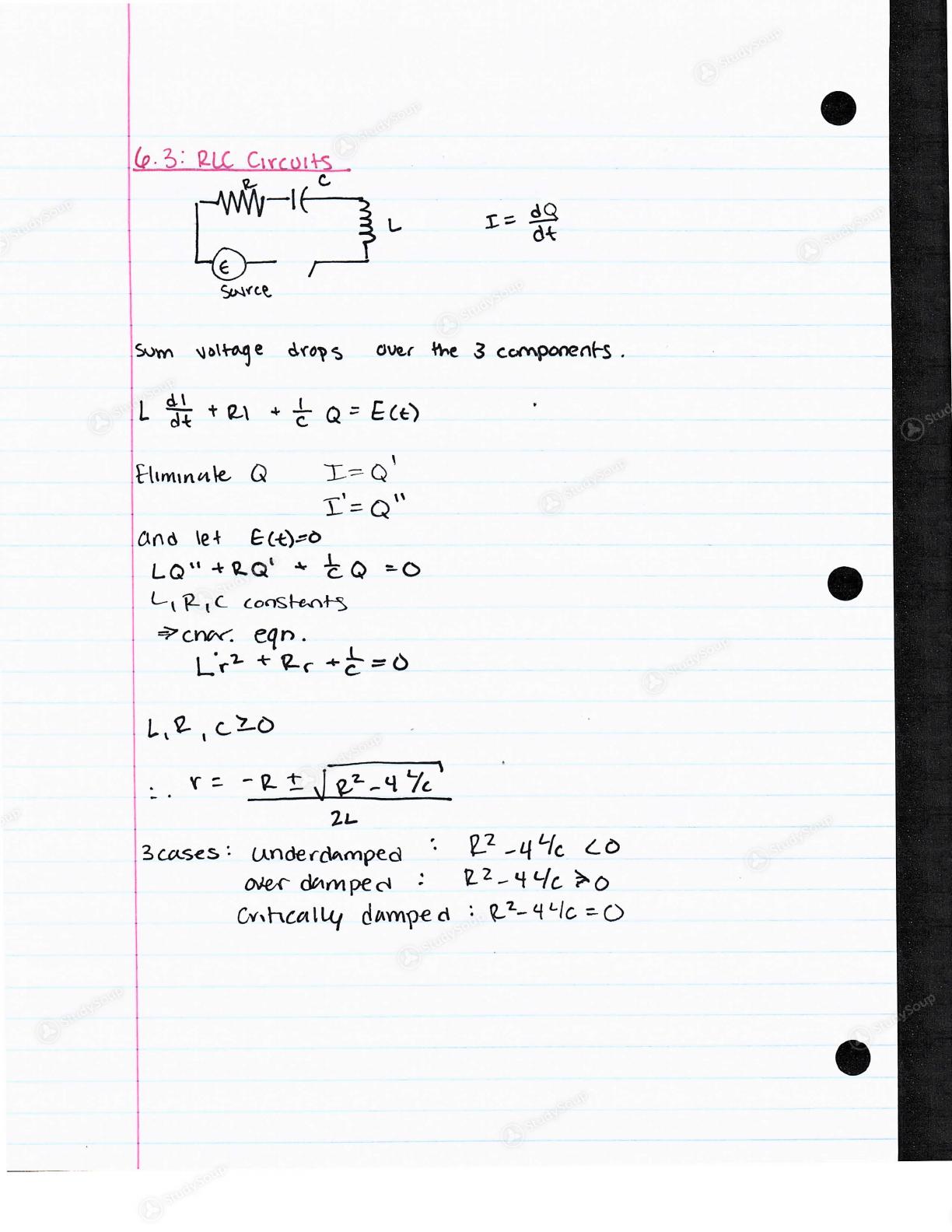 WSU Vancouver - Mat 315 - Class Notes - Week 10 | StudySoup